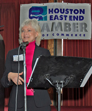 Sandra Zimmer at the Eastside Chamber of Commerce, Houston
